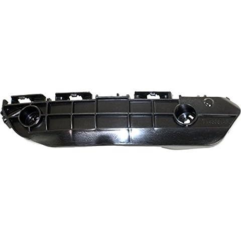 DAT 08-10 TOYOTA HIGHLANDER BLACK FRONT BUMPER BRACKET RIGHT PASSENGER SIDE TO1067167 - Passenger Side Bumper Grille