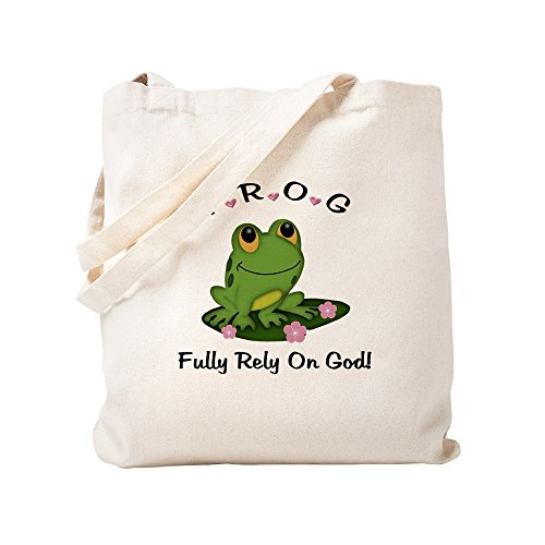 (CafePress - FROG Fully Rely On God - Natural Canvas Tote Bag, Cloth Shopping)
