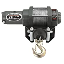 Viper Max 2500lb ATV Winch & Custom Mount for Yamaha Big Bear 400 2x4, 4x4 with Steel Cable