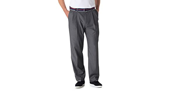 Haggar 486 Cool 18 Dress Pants Moisture Wicking No Iron Pleated Front