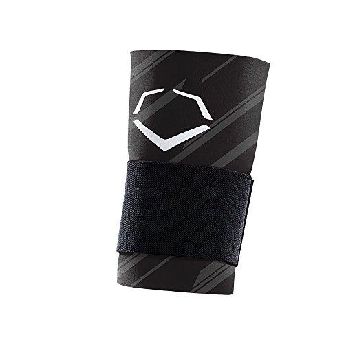 EvoShield MLB Speed Stripe Wrist Guard with Strap, Black, Large