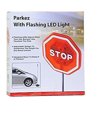 Parkez Flashing Led Light Parking Stop Sign For Garage Amazon De