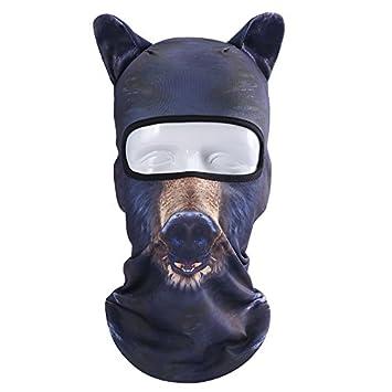 Máscara Al Aire Libre, Fansport Máscara De Cara Completa PatróN De Animales 3D A Prueba