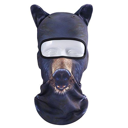 Outgeek Cat Mask, Women Men Balaclava Summer Full Face Hat Animal Ears Sports Helmet Climbing Fishing Cap -