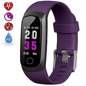 HETP Pulsera de Actividad Inteligente, Reloj Inteligente Hombre Mujer con Pulsómetro y Presión Arterial Reloj Deportivo Podómetro GPS Impermeable ...