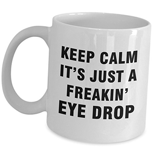 Ophthalmologist Funny Cute Gag Gifts for Men Women Ophthalmology Mug Coffee Tea Cup - Keep Calm - Optician Optometrist Optic Eye Doctor Specialist Optometry Accessories Appreciation Gift Ideas