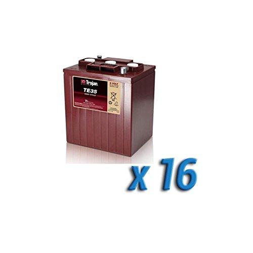 Trojan - Paquet batterie solaire 96V accumulation 16 x TE35 245Ah 6V batteries Trojan - TE35x16