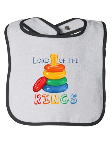 LORD OF THE [STACKING] RINGS Baby Feeding Bib / Cute, Funny Infant Humor