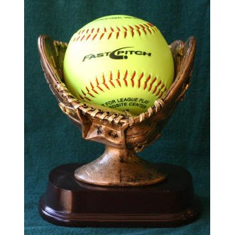 Coach Trophy - Softball Holder Trophy with 3 lines of custom text