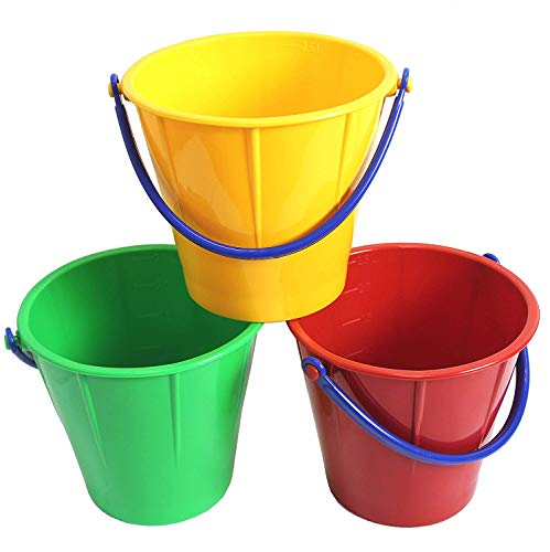 - Spielstabil Large Sand Pail - Holds 2.5 Liters - Sold Individually - Colors Vary (Made in Germany)