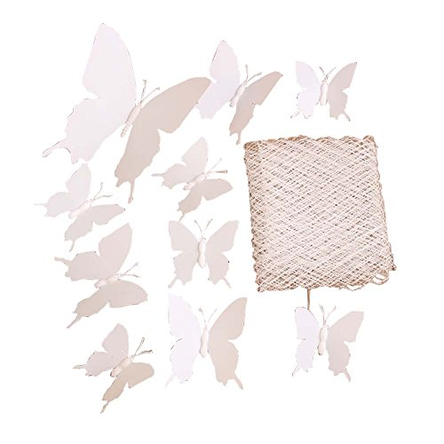 Handmade Butterfly Wedding Bridal Hair Style Accessories Sets Face Veil for Studio/Stage
