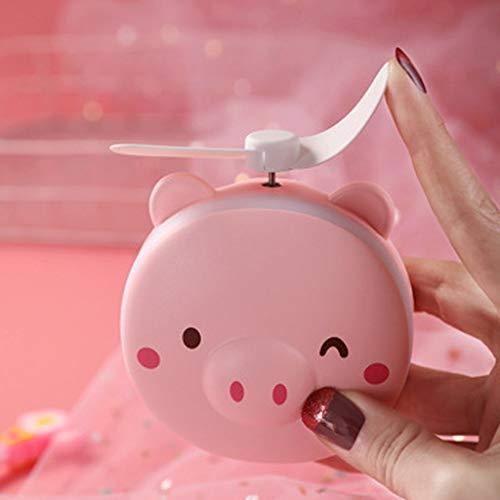 - Coohole-01 Fill Light LED Handheld Pedestal Beauty Mirror USB Portable Charging Mini Pocket Fan Handheld Portable Fan