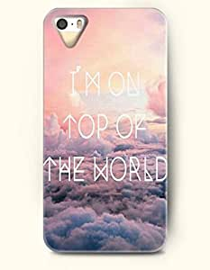 iPhone 5 5S Hard Case (iPhone 5C Excluded) **NEW** Case with Design I'M On Top Of The World- ECO-Friendly Packaging - Life Quotes Series (2014) Verizon, AT&T Sprint, T-mobile hjbrhga1544