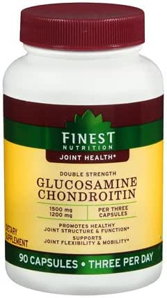 Finest Nutrition Double Strength Glucosamine Chondroitin 1500 mg 1200 mg, 90 ea