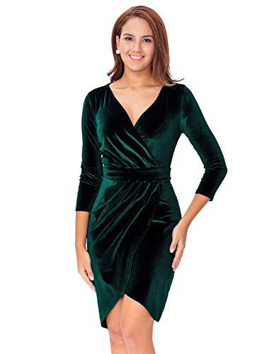 InsNova-Vestido-de-manga-larga-de-terciopelo-para-mujer
