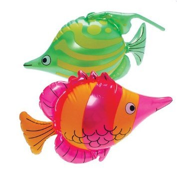 (Set of 2 Bright, Colorful Tropical Fish Inflates / 24
