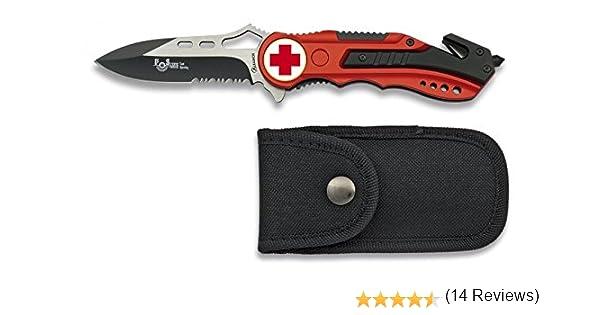 Albainox 19626GR1028 - Navaja Roja Seguridad Cruz Roja, Mango de ...