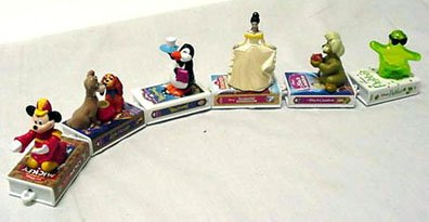 Mcdonalds Disney Video - Mcdonalds - Disney Video Favorites Complete Happy Meal Set - 1998