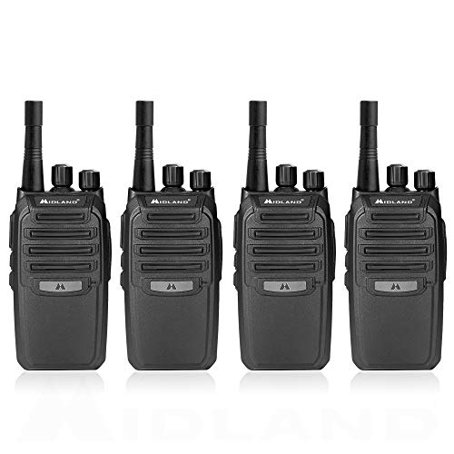 Midland BR200 Two-Way Business Band Radio Bundle - Black (Pack of 4)