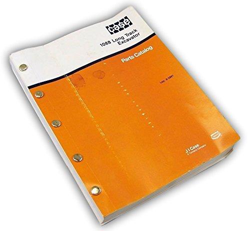 Case Crawler Parts - Case 1088 Long Track Excavator Crawler Parts Manual Catalog Exploded Views