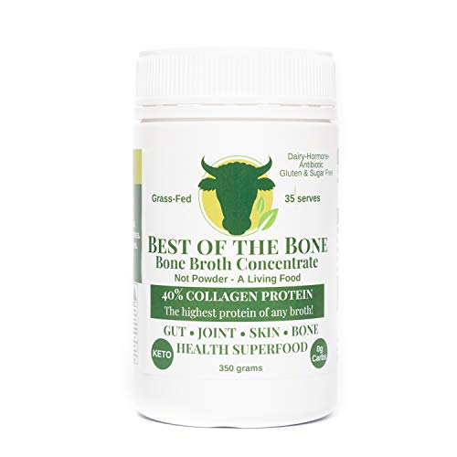 Premium Beef Bone Broth Concentrate - 100% Sourced From AU Grass-Fed, Pasture-Raised Cattle - Healthier Skin & Nails, Healthy Digestion - No Hormones or Antibiotics - Bone Broth Collagen