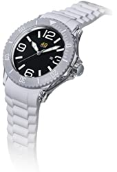 40Nine Unisex 40NINE03/WHITE Medium 40mm Analog Display Japanese Quartz White Watch
