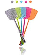 ValueHall Fly Swatter Manual Pest Control Durable Long Handle Swatter Set Mosquitoes Fly Killer(5 Pack) V7024B (Colorful 1)