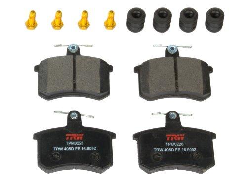 TRW TPM0228 Black Premium Semi-Metallic Rear Disc Brake Pad Set