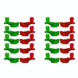 MUZOCT 10 Pairs 1999-2007 Chevy Silverado GMC Sierra Tailgate Handle Rod Clip, New Left & Right Rod Retainer Clips, OEM Replacement Pair 88981030, 88981031