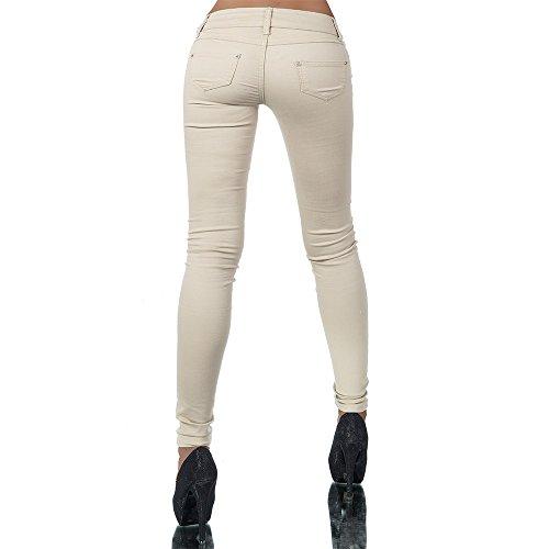 Para Básico Beige jeans Vaqueros Mujer Diva Skinny HqZIwAa