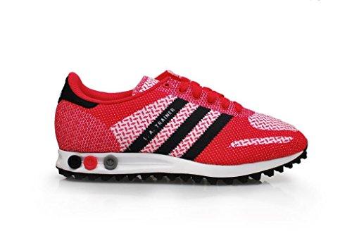 Adidas ragazzi–La Trainer Weave J, colore: nero e rosa, colore: bianco af5767
