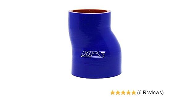 HPS HTSOR-200-300-BLUE High Temp 4-ply Reinforced Silicone Offset Reducer Coupler Hose 60 PSI Maximum Pressure 2  3 ID Blue 3 Length