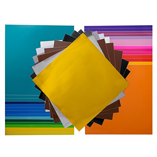 "Pack of 40 12""x 12"" Permanent Self Adhesive Vinyl Sheets in"