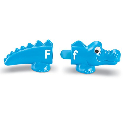 41h79HlueAL - Match upper and lowercase letters with these two-piece gators