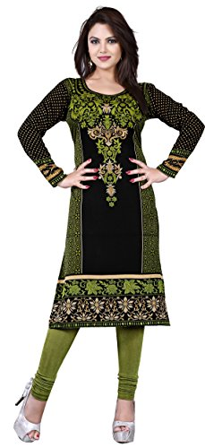 Maple Clothing Tunic Top Kurti Printed Womens Blouse Indian Clothes – S…Bust 34 inches, Green 2