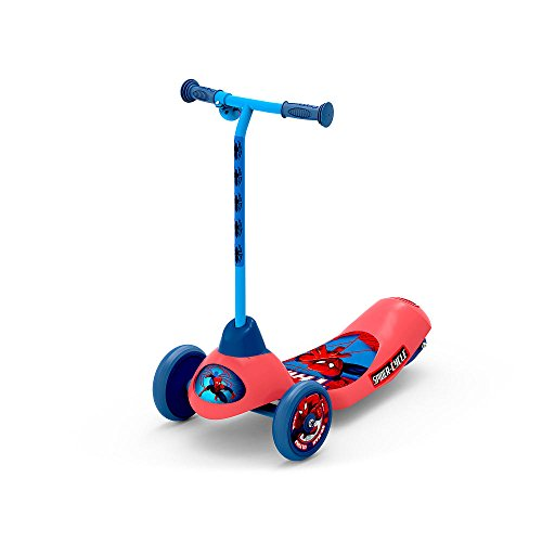 Pulse Performance Products Spider-Man Safe Start 3-Wheel Electric Scooter