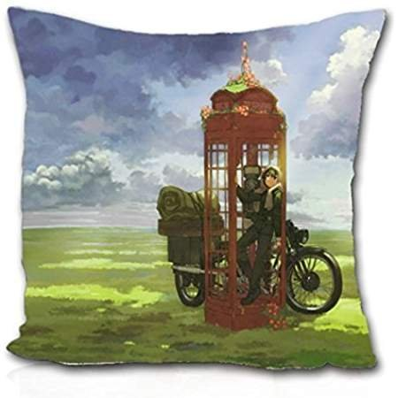 ForcoolStore fields kino no tabi phone motorbikes Throw Pillow Case Cushion Cover