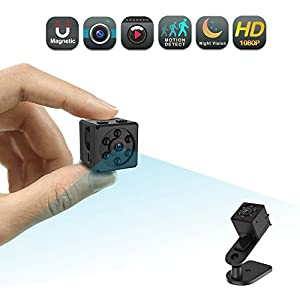Mini Spy Camera, CHUHE 1080P Portable HD Covert Body Cam with Night Vision and Motion Detection,Indoor/Outdoor Small Security Camera,Perfect Hidden Camera for Home and Office