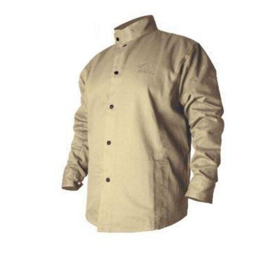 Revco BSX BXTN9C Khaki Fire Resistant Cotton Welding Jacket, Large