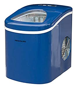 Frigidaire Portable Compact Maker, Counter Top Ice Making Machine, 26lb per day (Blue) (EFIC108-BLUE)