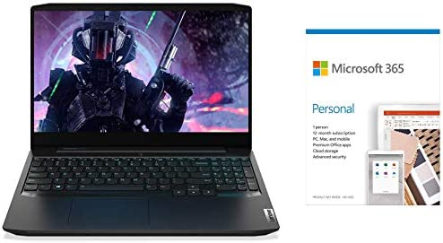 Lenovo IdeaPad Gaming 3i 10th Gen Intel i5 15.6-inch FHD Laptop(8GB/1TB HDD+256GB SSD/Win10/NVIDIA 1650Ti 4GB/with Gaming Mouse/Onyx Black/2.2Kg)Microsoft 365 Personal-One Year Subscription Included