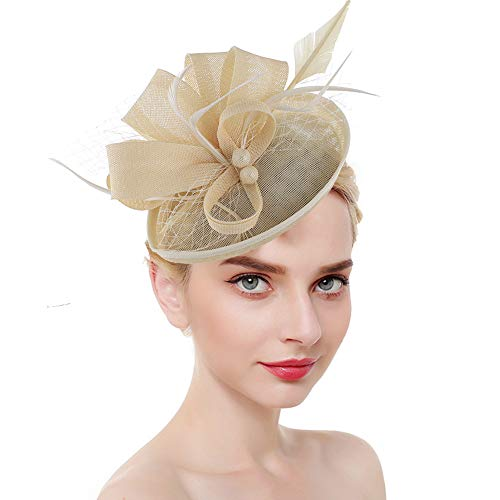 Fusion Hat Clip - Fascinators for Women Tea Party Hat Kentucky Derby Hat and Flower Mesh Hair Clip and Headband