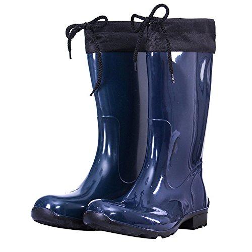 Krexus Damen Gummistiefel Regenstiefel Modell Cardiff BDunkelblau ... 08cc76bc78