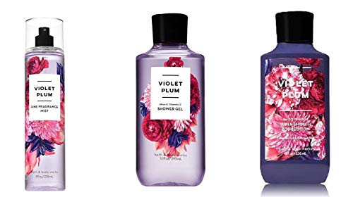 Bath and Body Works - Violet Plum - Shower Gel, Body Lotion, Fine Fragrance Mist Daily Trio Summer ()
