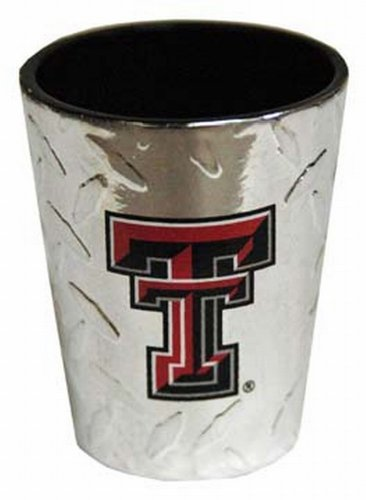 NCAA Texas Tech Red Raiders Shotglass Diamond Plate (Tech Red Glass Raiders Texas)