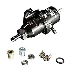 upgr8 honda acura high volume bolt on fuel pressure regulator black automotive. Black Bedroom Furniture Sets. Home Design Ideas