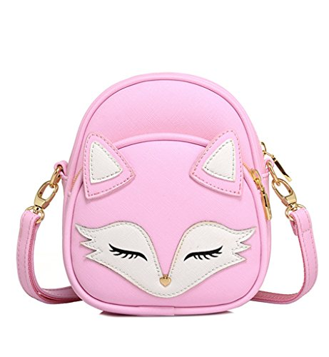 Tom Clovers Womens Girls Mini Cute Sleeping Fox handbag Cross Body Shoulder Bag Sling Bag