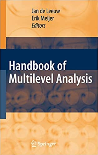 2392e45a Handbook of Multilevel Analysis: Jan Deleeuw, Erik Meijer, H ...