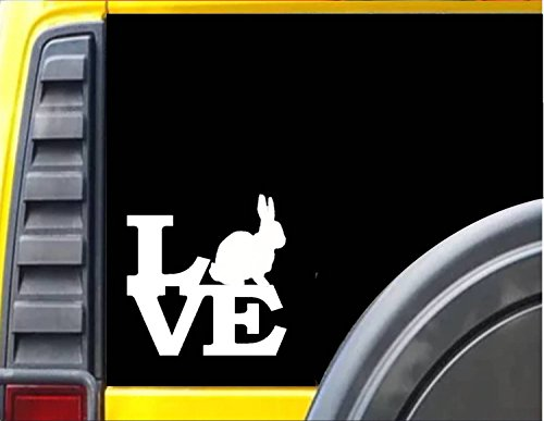 "Rabbit Love 6"" STICKER *F171* DECAL cotton tail beagle bunny easter breeding box"