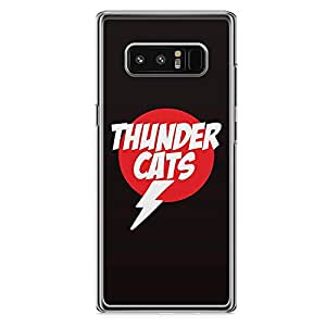 Loud Universe Thunder Cats Logo Samsung Note 8 Case Classic Retro Cartoon Samsung Note 8 Cover with Transparent Edges